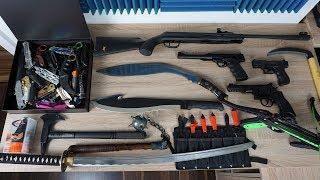 Meine Waffensammlung Anfang 2018 - Armbrust, Luftgewehr, Macheten...!