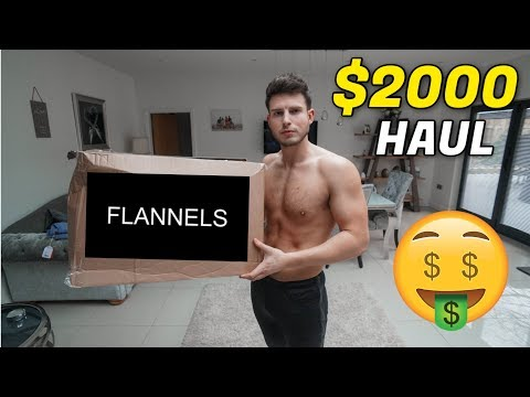 HUGE $2000 FLANNELS DESIGNER CLOTHING HAUL (Kenzo, DSquared + Lots More)