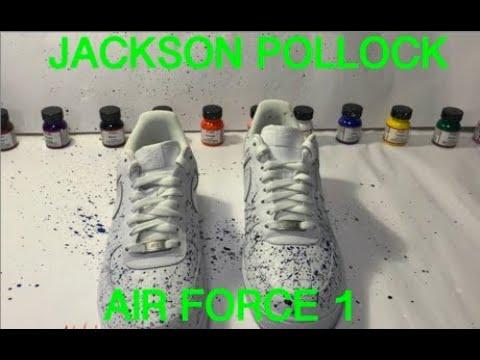 Custom AIR FORCE 1 Jackson Pollock Art (SatIsFYInG)