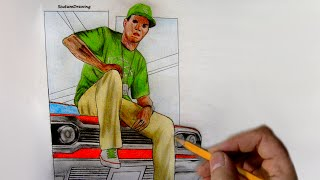 Lamar Davis - Speed Drawing - How To Draw - GTA 5: Lowriders DLC