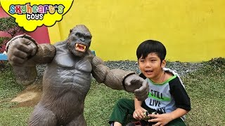 Giant KING KONG toys Skull Island - Monkey Gorilla for kids fight king of the monsters toys