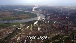 Stahlwerkes im Ortsteil Marxloh in Duisburg im Bundesland Nordrhein-Westfalen, Deutschland