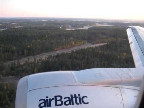 Air Baltic Boeing 737-500 Landing at Turku Finland - YouTube