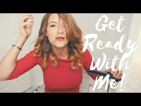 Get Ready with Me! (How to curl hair and do cat eyeliner)   Kristen Michaela