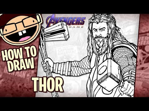 How To Draw THOR (Avengers: Endgame) | Narrated Easy Step-by-Step Tutorial