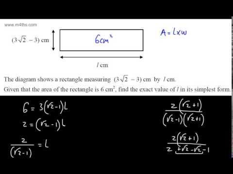 Gcse Maths Surds 4 Tough Exam Questions And Extension A Igcse