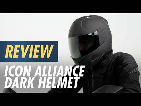 ICON ALLIANCE DARK MATTE BLACK HELMET MOTORCYCLE STREET DOT DARK /& CLEAR SHIELD!
