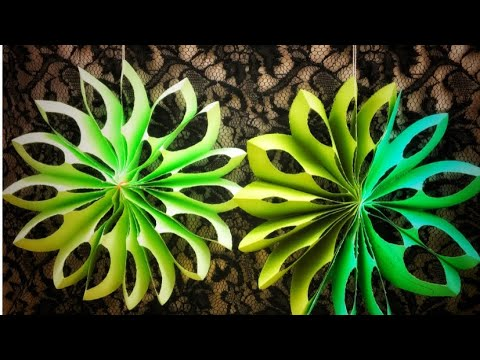 | DIY Paper Snowflakes | How to make 3D paper snowflakes ||