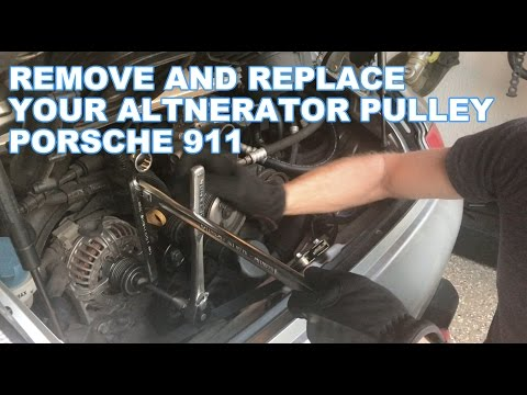 HOW TO Remove and replace your alternator pulley on a Porsche 911 996