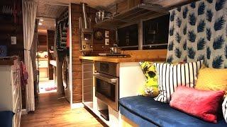 Tiny House School Bus Conversion: Take A Tour!