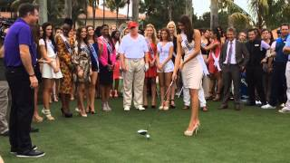 Miss Universe contestants tee off on golf course