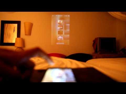 Samsung Galaxy Beam Projector demo