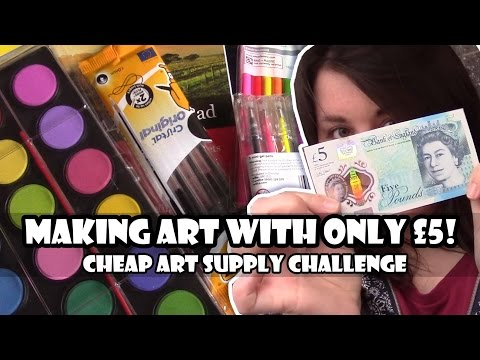 Making Art for only £5 !- Cheap Art Supply Challenge