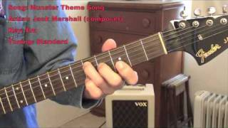 Munsters Theme Song (guitar lesson w/tabs)