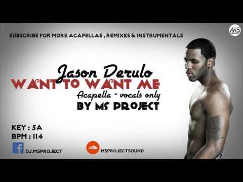 Jason Derulo - Want To Want Me (Acapella - Vocals Only) + DL