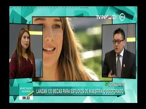 Entrevista TV Perú - Beca Presidente de la República 16-07-18