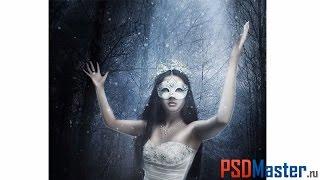 Коллаж в фотошопе - Зимняя принцесса