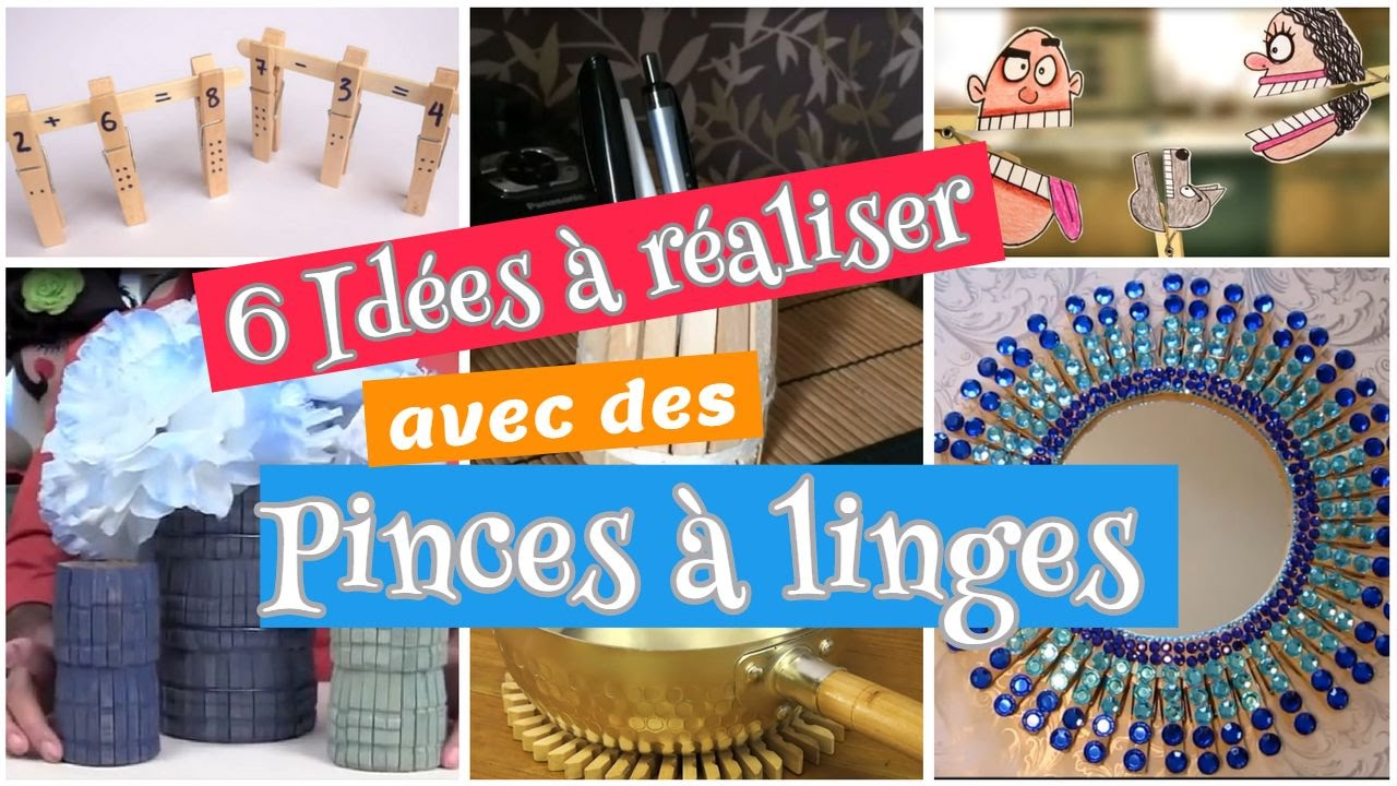 6 id es diy r aliser avec des pinces linge youtube. Black Bedroom Furniture Sets. Home Design Ideas