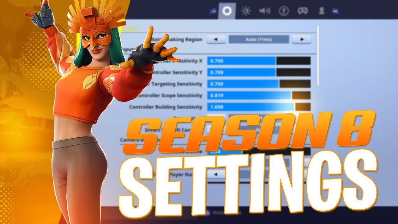 best controller settings for fortnite season 8 ps4 xbox one - best controller sensitivity for fortnite xbox season 8