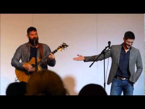 Jason Manns and Jensen Ackles singing Crazy Love at Asylum 14