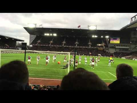 Mauro Zarate free kick against West Brom