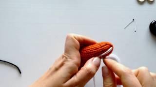 Оформлення мордочки у в'язаної іграшки