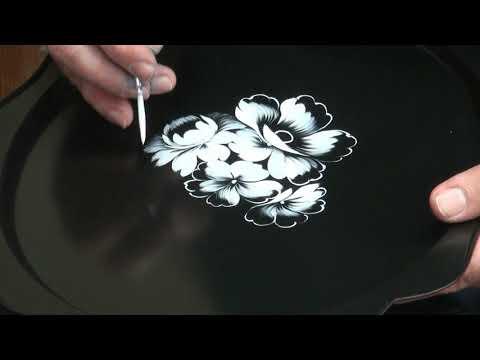 Мастер-класс от главного художника Жостовской фабрики декоративной росписи М.В.Лебедева - часть 2
