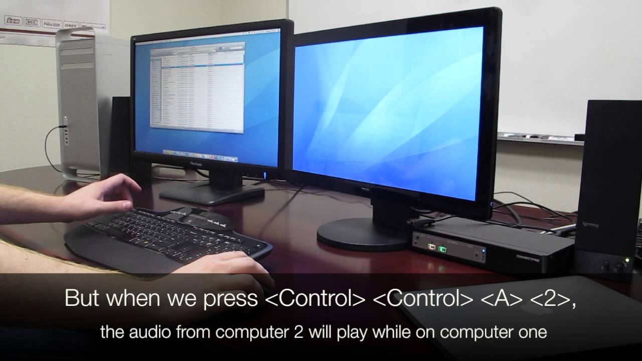 Dual-Monitor KVM with Audio Switching!