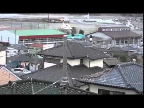 Tsunami in Hitachinaka, Ibaraki Prefecture, Japan