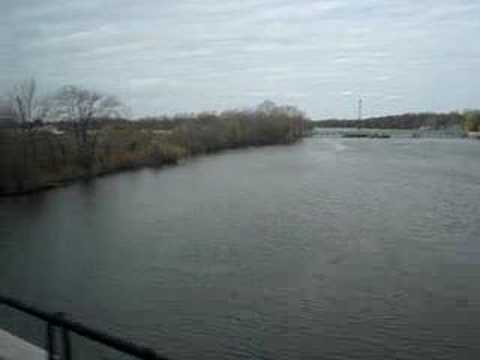RiverLINE going over Rancocas Creek