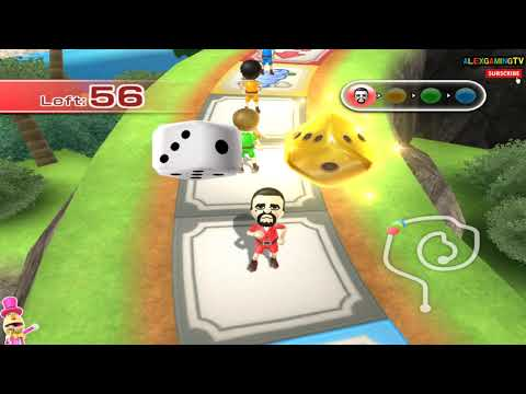 Wii party - Board Game Island (Master Mode ) Player Alex vs Victor vs Lucia vs Pablo [1080p@60fps]
