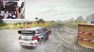 Volkswagen Polo WRC   Dirt Rally   Logitech g29 gameplay