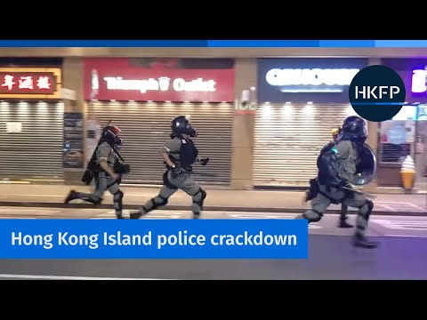 Tear Gas & Molotovs On Hong Kong Island, As Riot Police Round Up Protesters