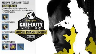 How to Register / Point Count / Win - First Qualifier WORLD CHAMPIONSHIP 2020 - Call of Duty Mobile