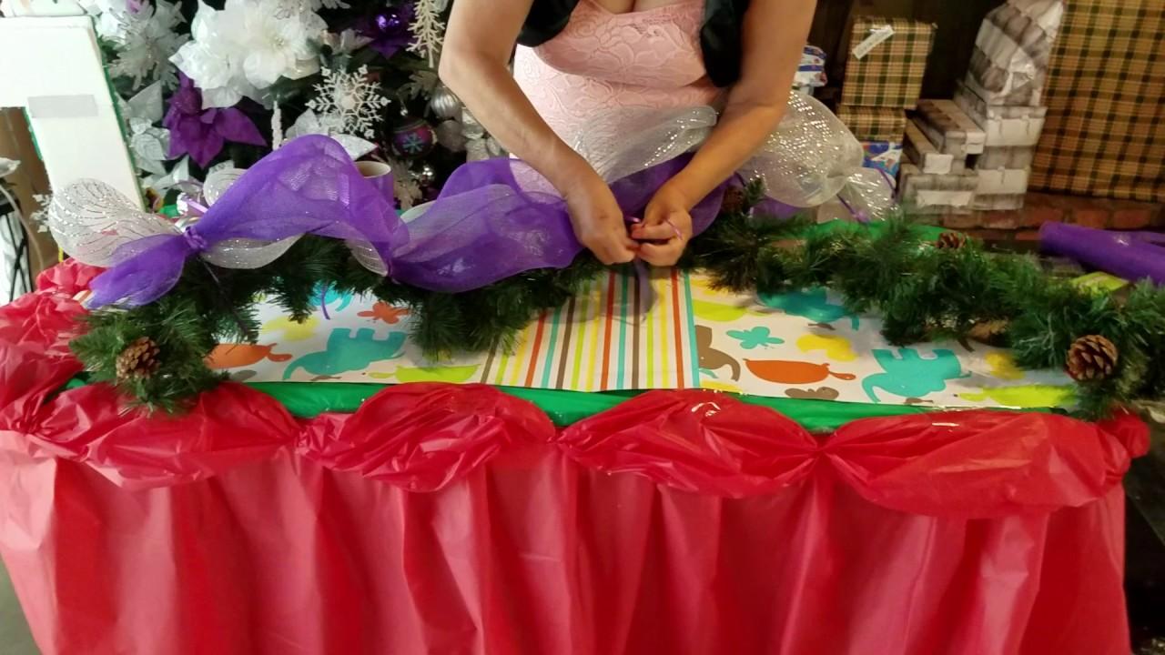 como decorar guia o guirnalda navide a para ventanas o