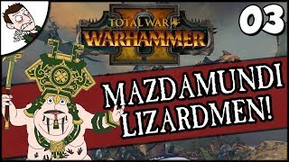 FIGHTING CHAOS! Total War Warhammer 2 Mazdamundi Lizardmen Campaign Part 3