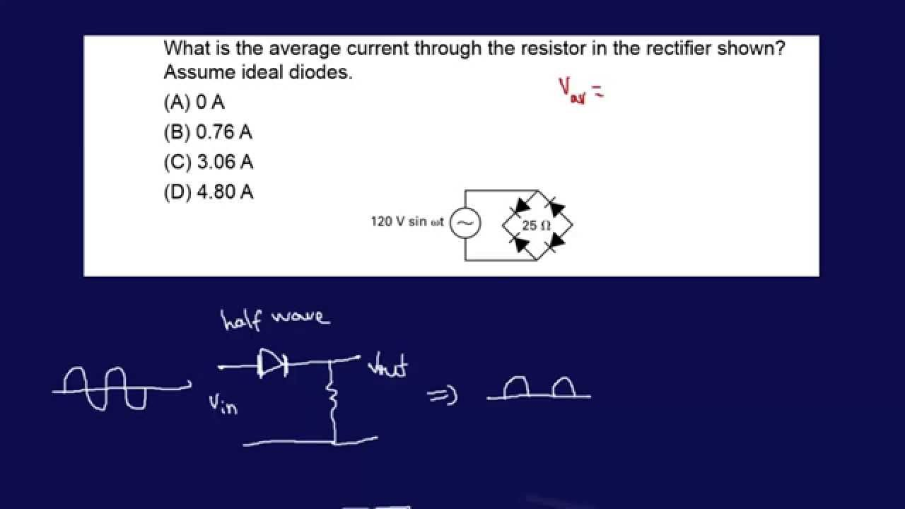 Full Wave Rectifier Diode Example