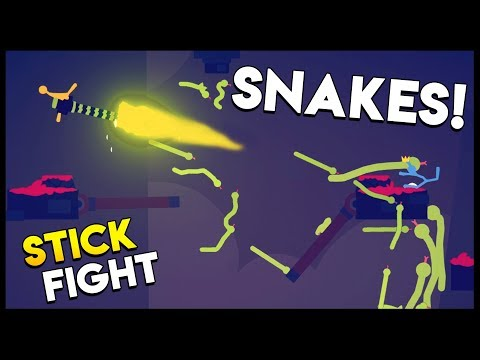 STICK FIGHT RAINING SNAKES DOWN FROM THE SKY! Stick Fight The Game Gameplay