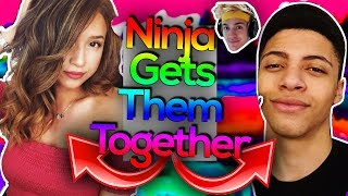Ninja Tries to Get Pokimane and Myth Together! Greatest WINGMAN Ever? (Fortnite Moments)