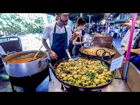 Vegetarian Indian Food Seen and Tasted in Borough Market. London Street Food
