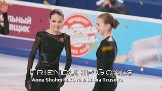 Sasha Trusova Anna Shcherbakova Friendship Goals Fan Imagined Dialogues