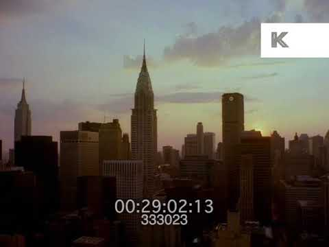 1980s Manhattan at Sunrise, New York, 35mm
