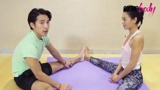 情侶運動idea!林德信魏秋琪示範雙人瑜伽