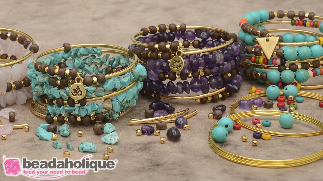 How To Make The Gemstone Memory Wire Bracelet Kit