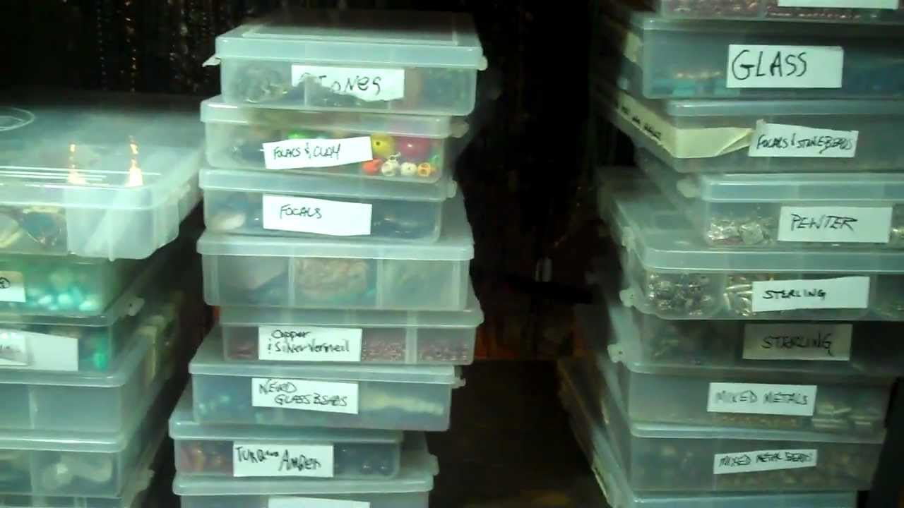 How I Organize My Jewelry Making Supplies Youtube