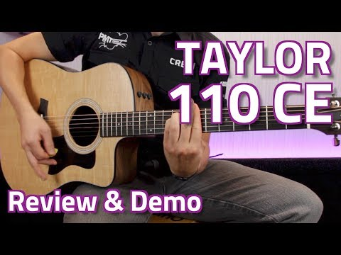Taylor 110CE Electro-Acoustic (Walnut) Guitar - Review & Demo