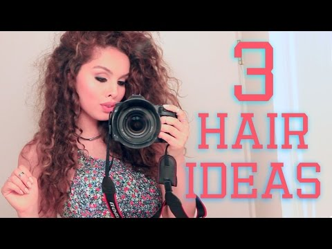 3-easy-hairstyles-for-curly-hair-♡