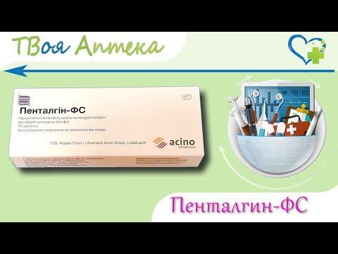 Пенталгин-ФС таблетки - показания (видео инструкция) описание, отзывы