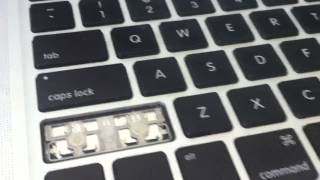 How to remove and clean MacBook Pro Retina SHIFT key