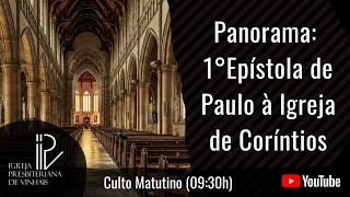 Panorama - 1ºEpístola de Paulo à Igreja de Coríntios